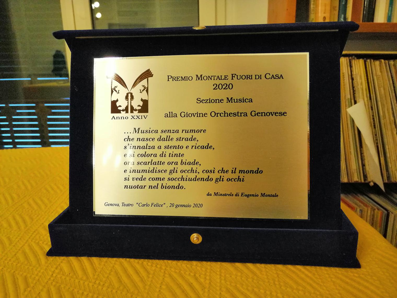 Premio Montale Fuori di Casa alla GOG