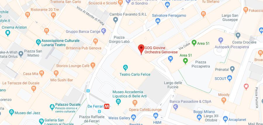 Mappa GOG | Genova
